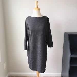 Uniqlo Wool Blend Houndstooth Dress, Size Large